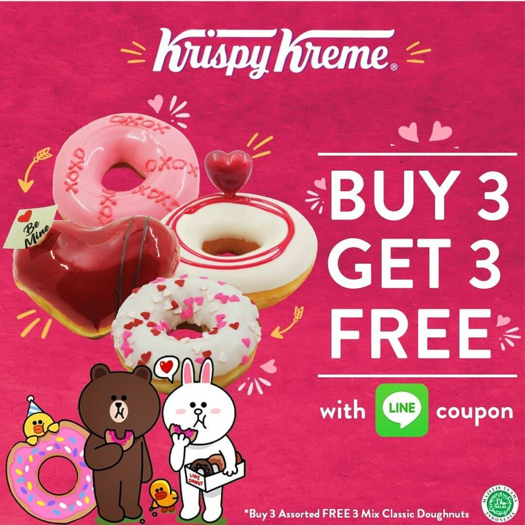 Diskon Krispy Kreme Promo Buy 3 Get 3 Free With Line Coupon