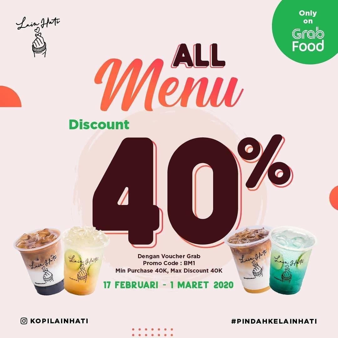 Kopi Lain Hati Promo Diskon Hingga 40% Untuk Pembelian Melalui Grabfood