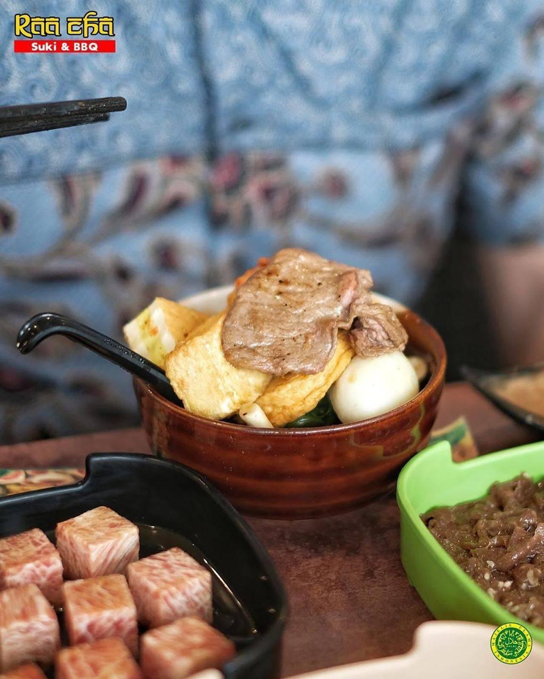 Raa Cha & BBQ  Promo Diskon 60% Hingga Rp. 30.000 Transaksi Menggunakan Dana