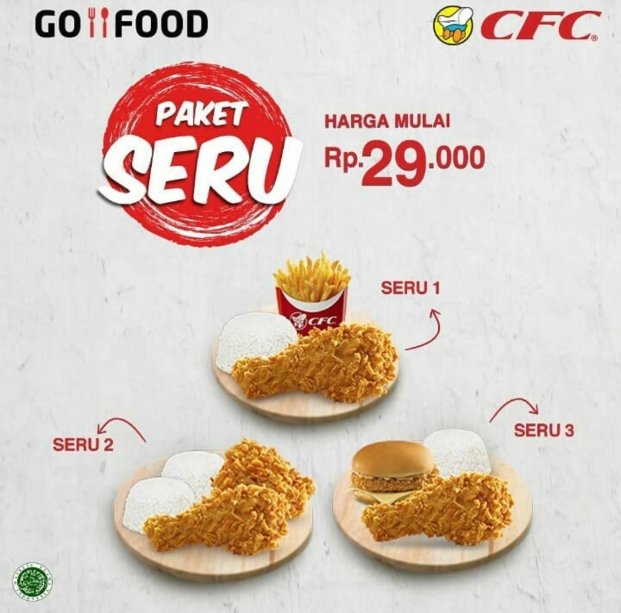 CFC Promo Paket Seru, Harga Mulai Dari Rp. 29.000