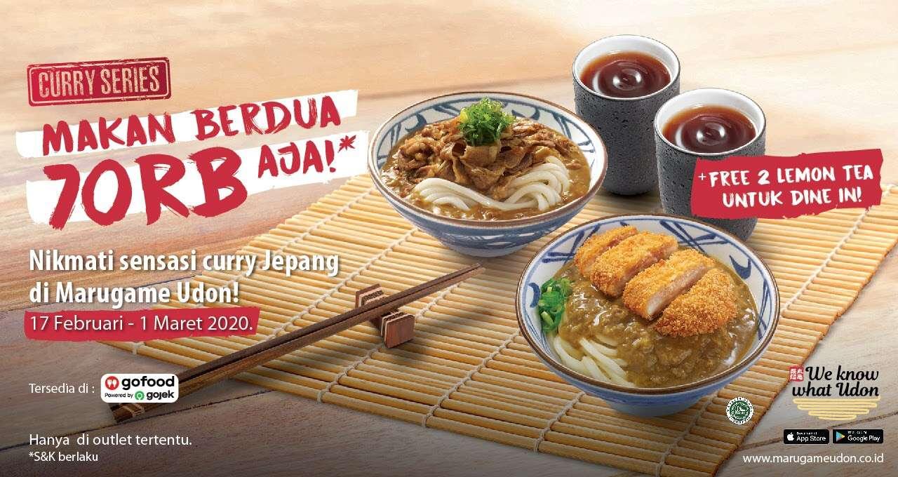 Marugame Udon Promo Makan Berdua Rp. 70.000 Aja Spesial Menu Curry Series