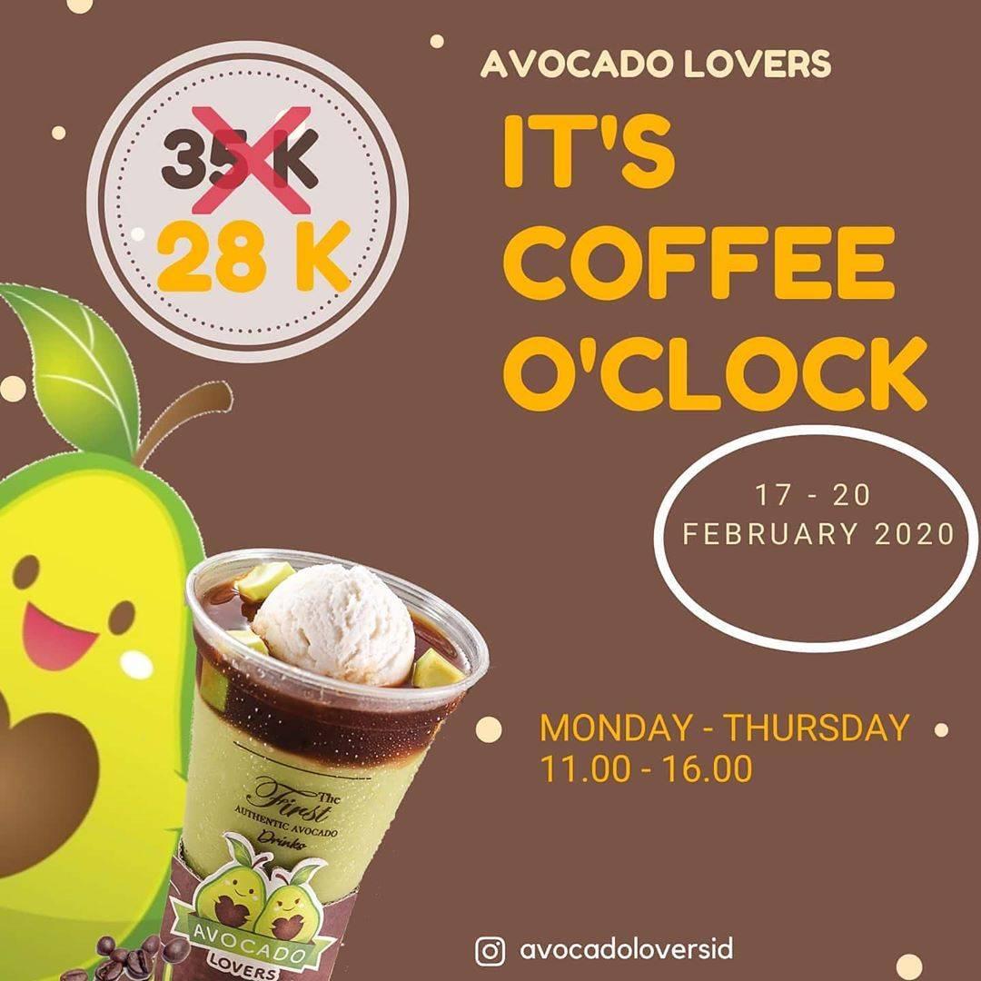 Avocado Lovers Promo Harga Spesial Untuk Minuman Avocado Coffee Hanya Rp. 28.000