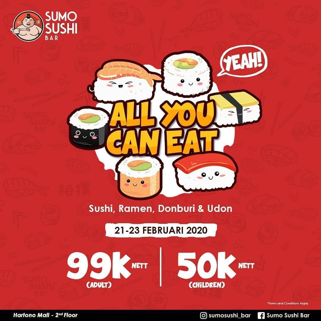Diskon Sumo Sushi Hartono Mall Jogja Promo All You Can Eat Dengan Harga Rp. 50.000 Untuk Anak-Anak Dan Rp.