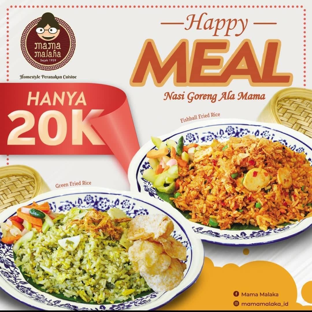 Mama Malaka Promo Harga Spesial Menu Pilihan Menu Fried Rice Hanya Rp. 20.000++
