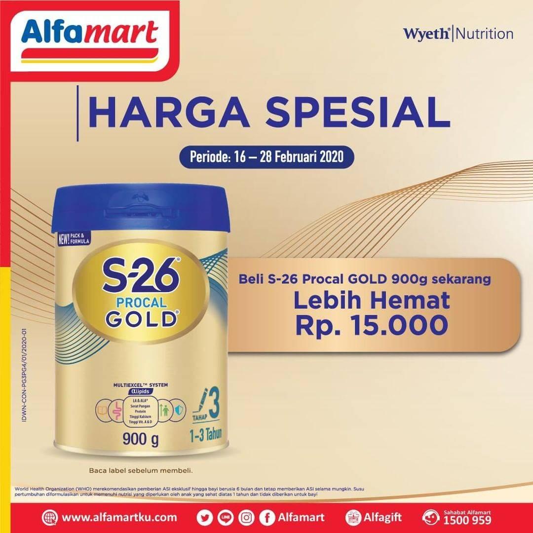 Alfamart Promo Hemat Rp. 15.000 Setiap Pembelian S-26 Procal Gold 900g