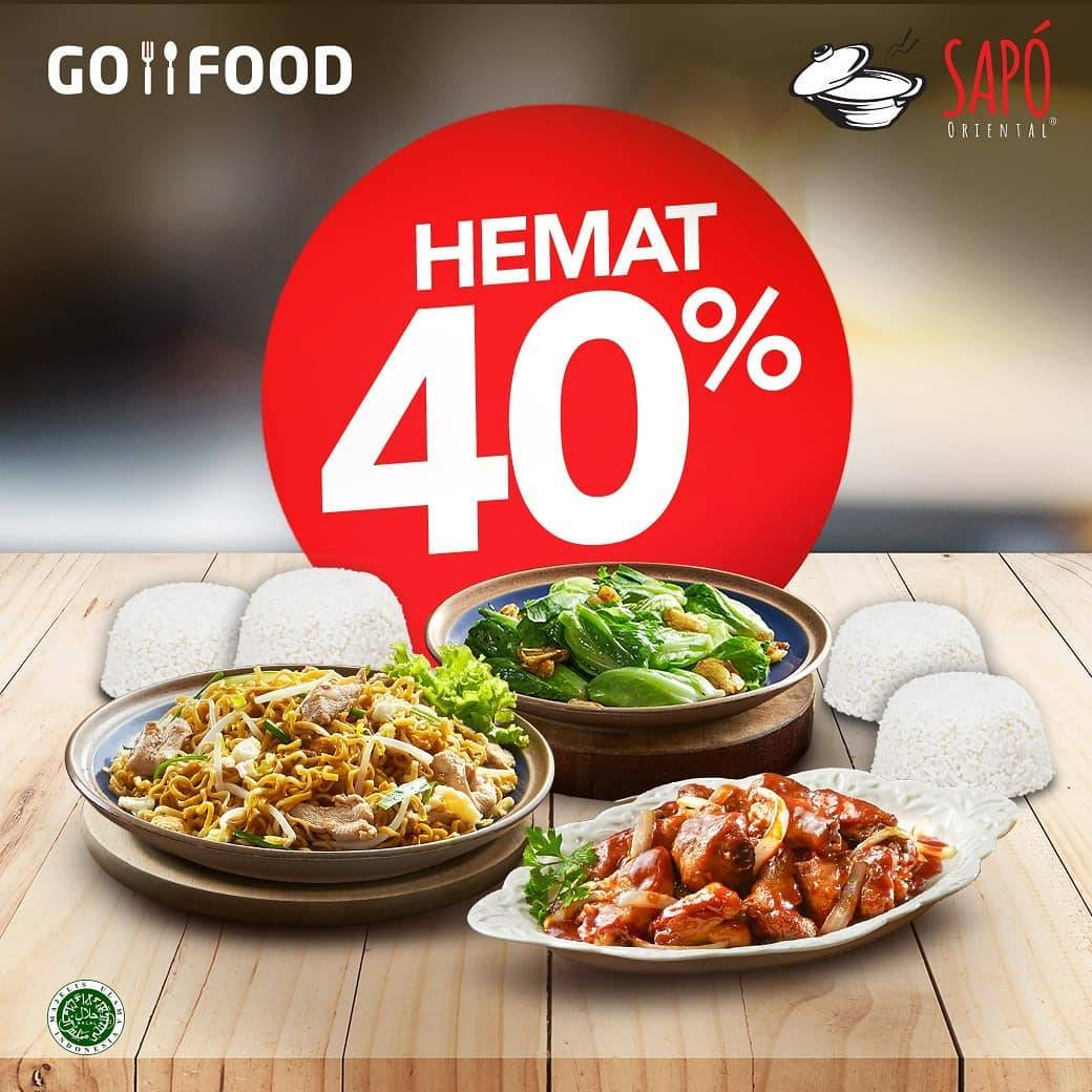 Sapo Oriental Promo Paket Hemat Sampai 40% Pembelian Melalui Gofood