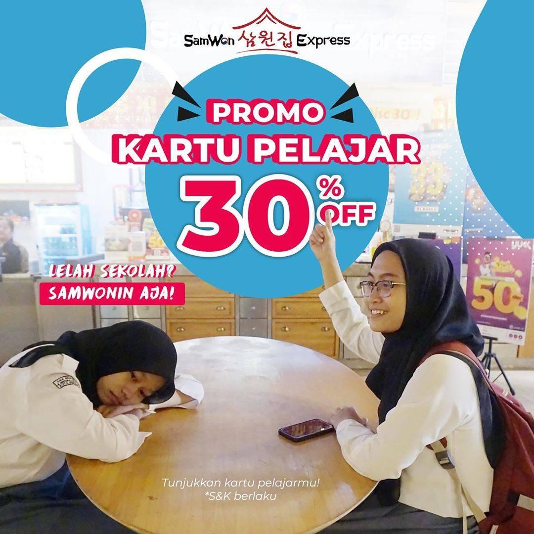 Samwon Express Promo Kartu Pelajar Diskon 30%