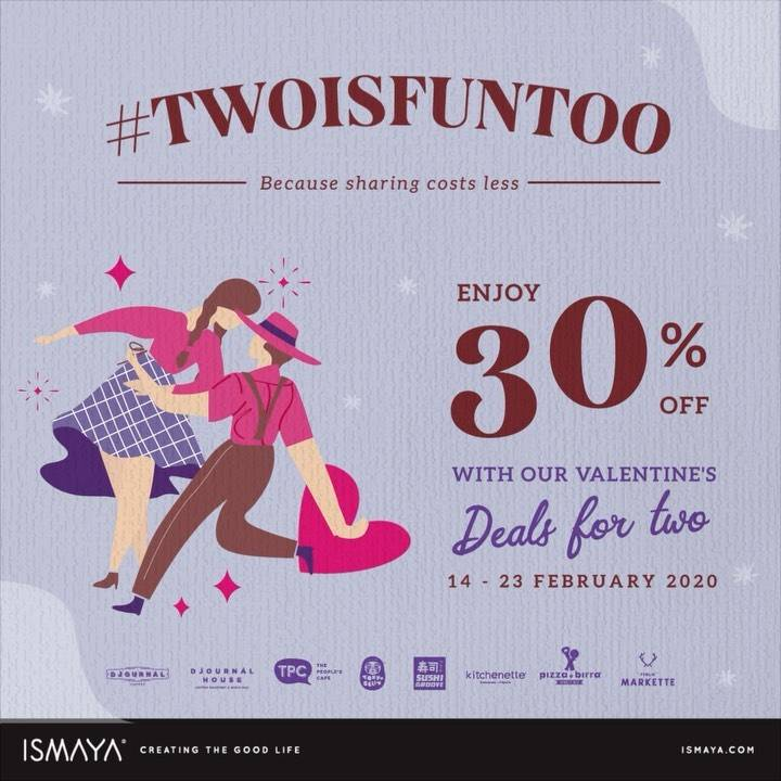 ISMAYA Restaurant Groups Promo Discount 30% Off For Two