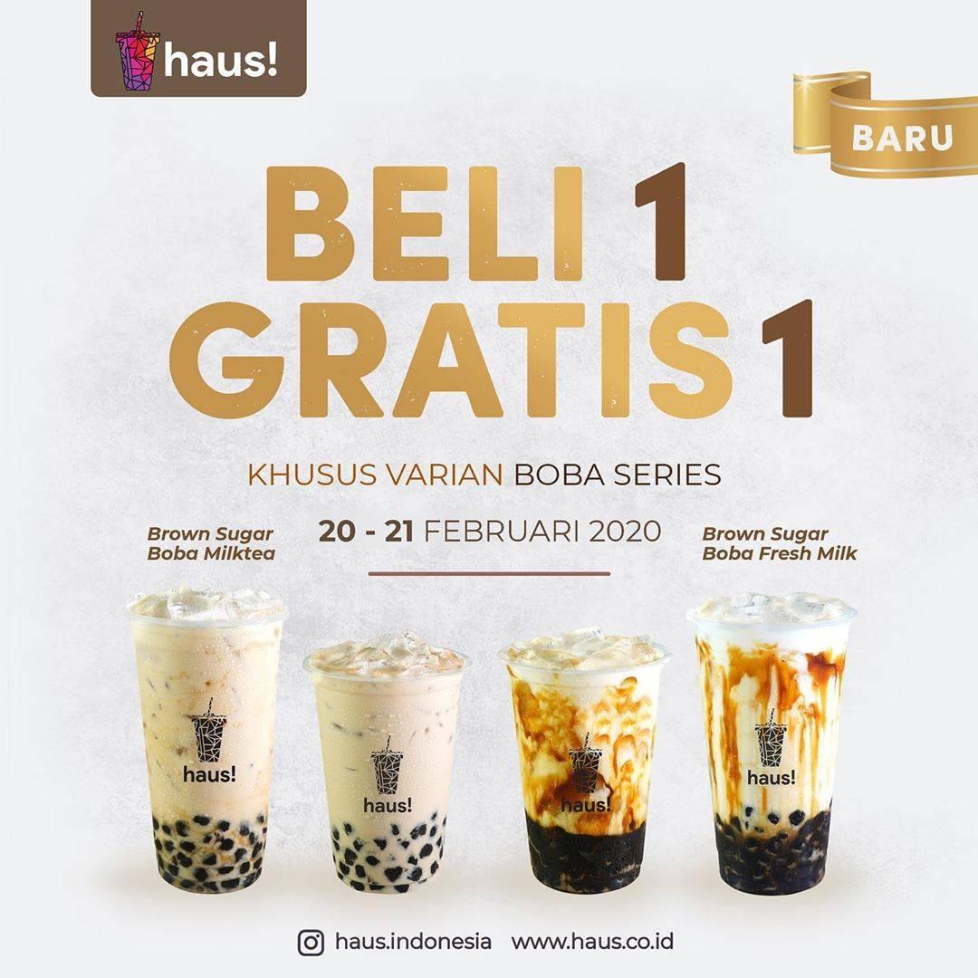 Haus! Indonesia Promo Beli 1 Gratis 1 Untuk Boba Series