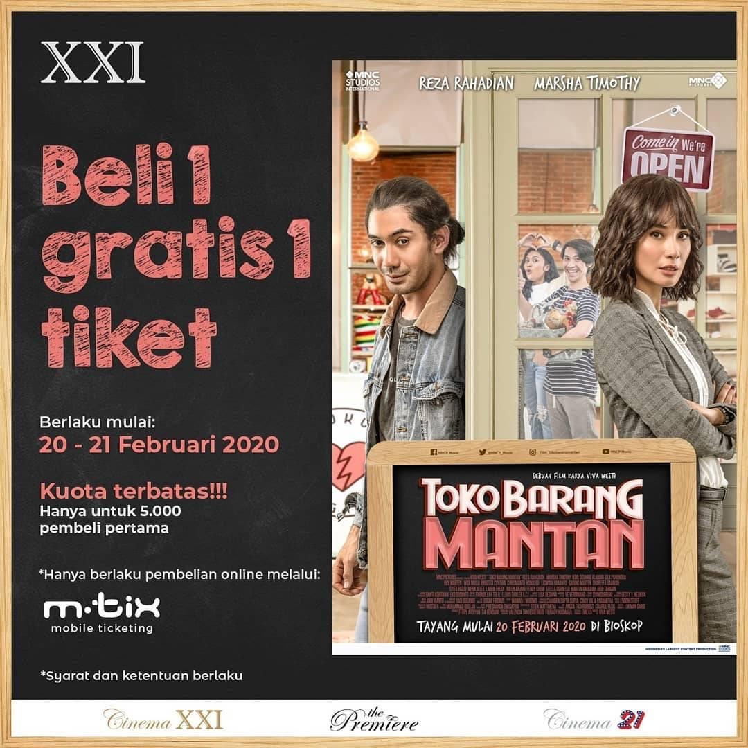 XXI Promo Beli 1 Gratis 1 Untuk Pembelian Tiket Film Toko Barang Mantan Transaksi Melalui Aplikasi M