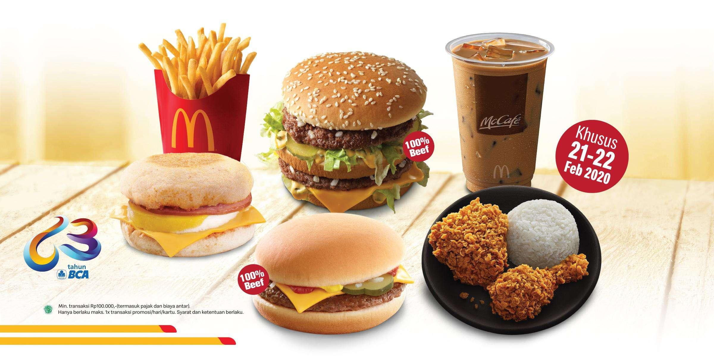 McDonalds Promo Diskon Rp. 63.000 Pembayaran Menggunakan Kartu Kredit BCA Khusus Pembelian Online