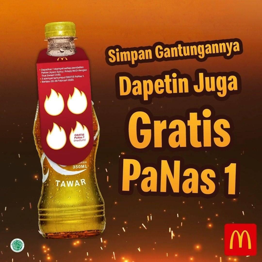 McDonalds Promo Gratis Teh Botol Tawar Setiap Pembelian Menu Thai Sweet Chili / Ayam Spicy McD
