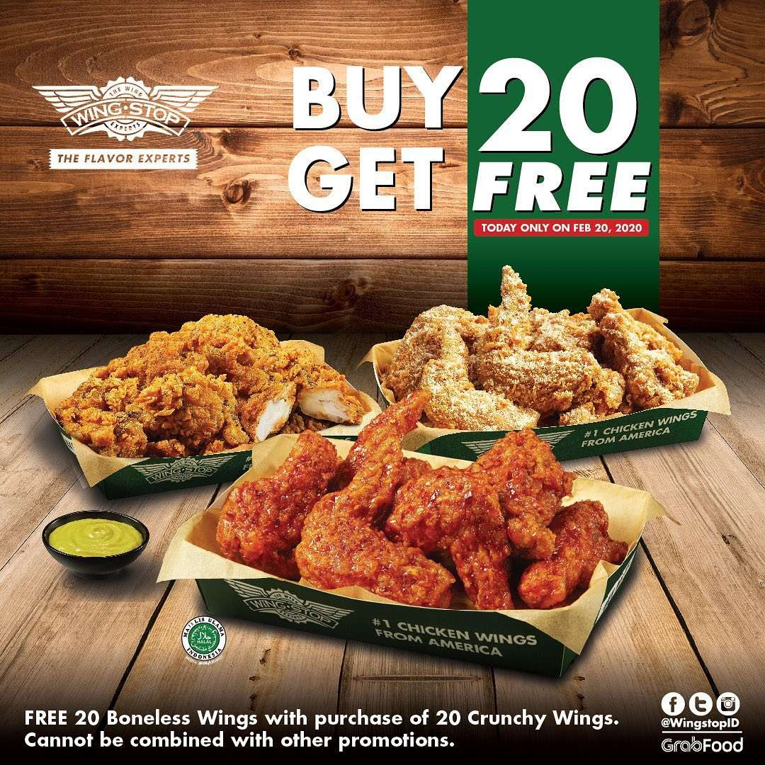 Wingstop Promo Buy 20 Get 20 Free