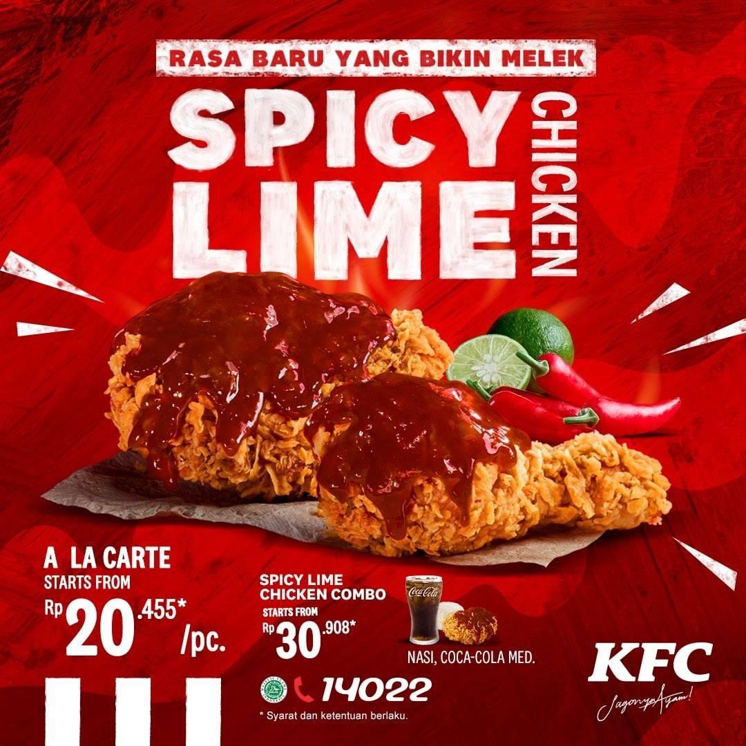 KFC Promo Harga Spesial Menu Baru Spicy Lime Chicken Harga Mulai Dari Rp. 20.455
