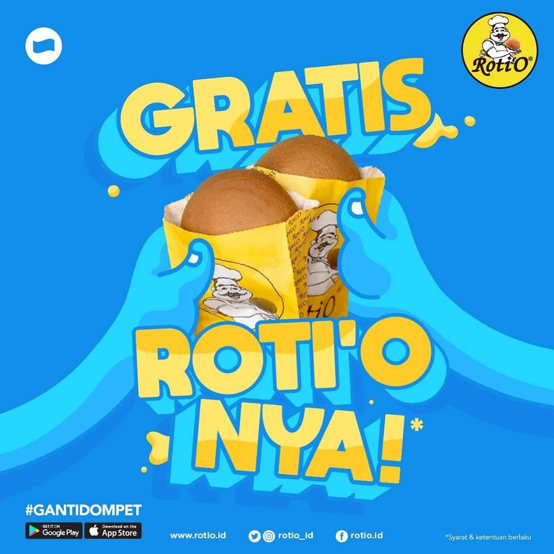 Roti'O Promo Gratis Roti'O Dengan Transaksi Pembayaran Melalui Dana