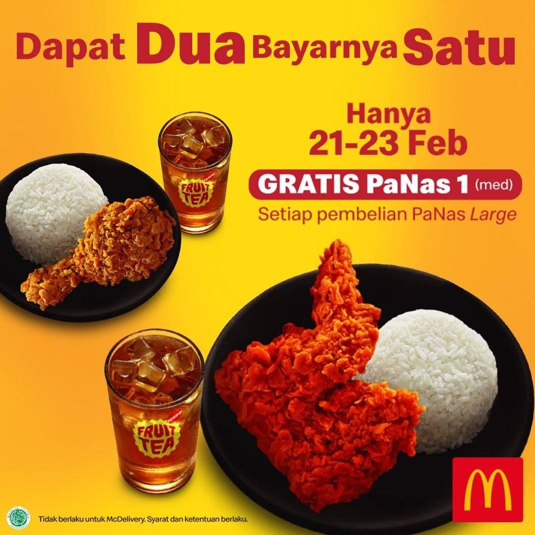 McDonalds Promo Gratis Panas 1 Ukuran Medium Setiap Pembelian Panas Large