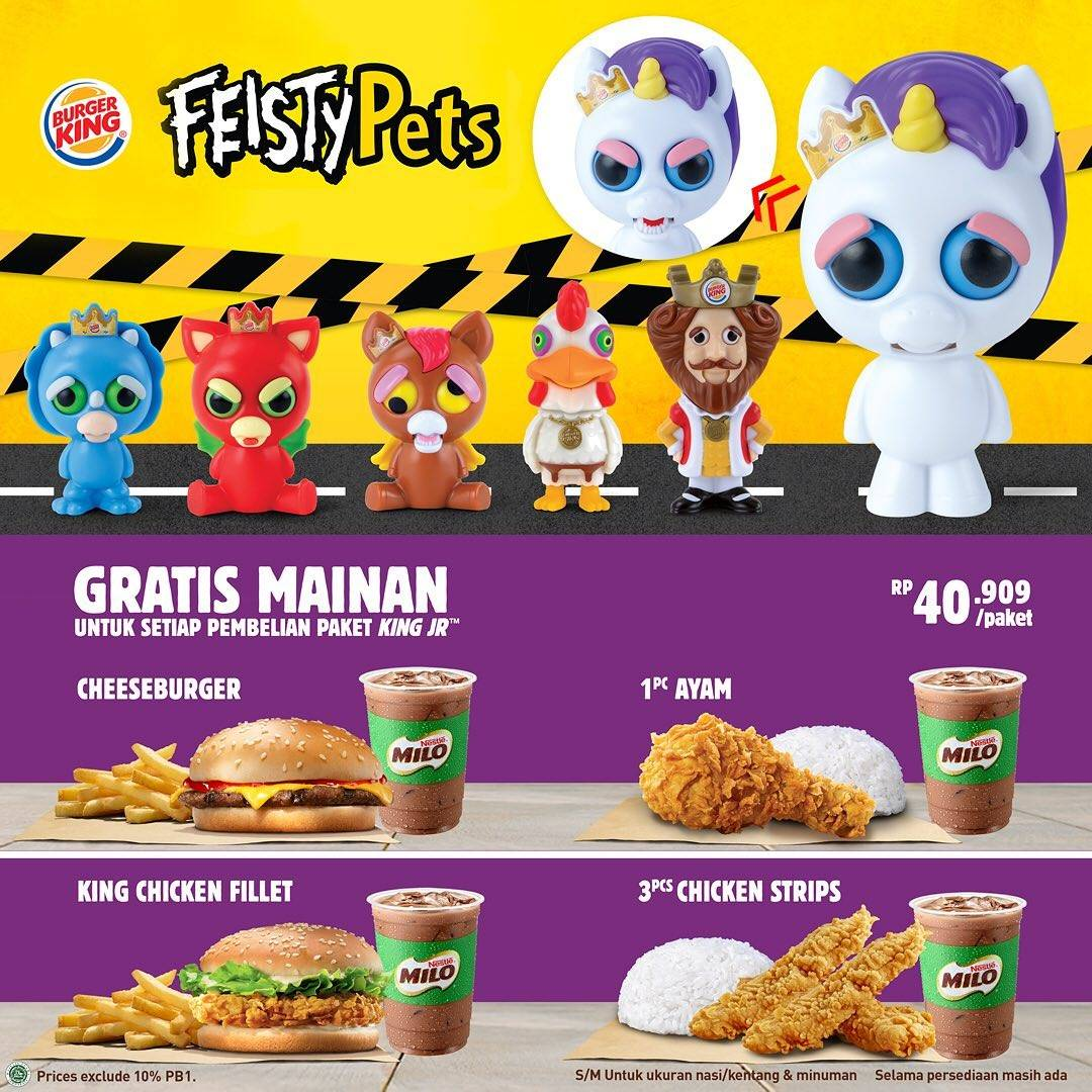 Burger King Promo Harga Spesial Paket King Jr Hanya Rp. 40.909 Dan Gratis Mainan