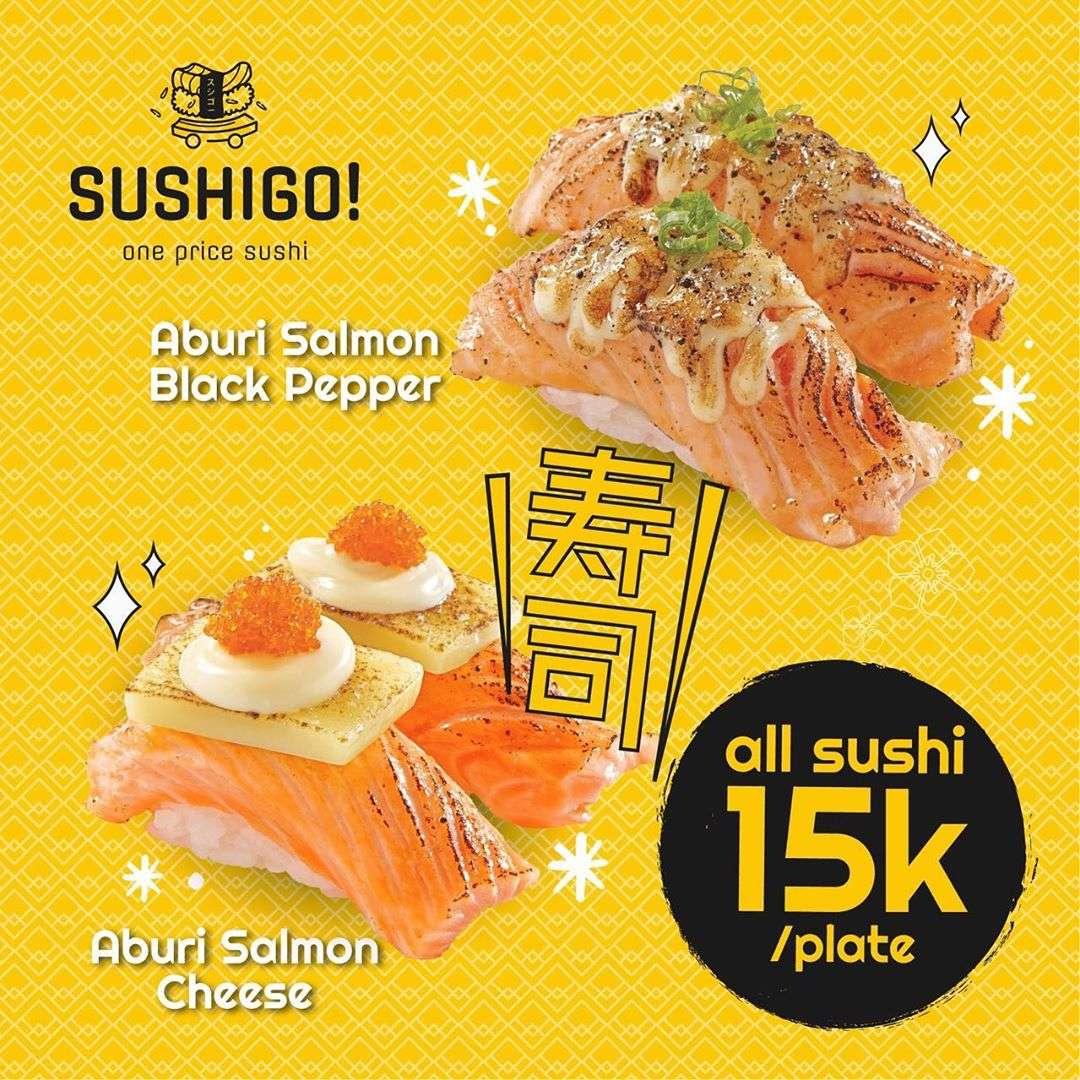 Sushi Go Promo Satu Harga Semua Variant Sushi Hanya Rp. 15.000/Piring