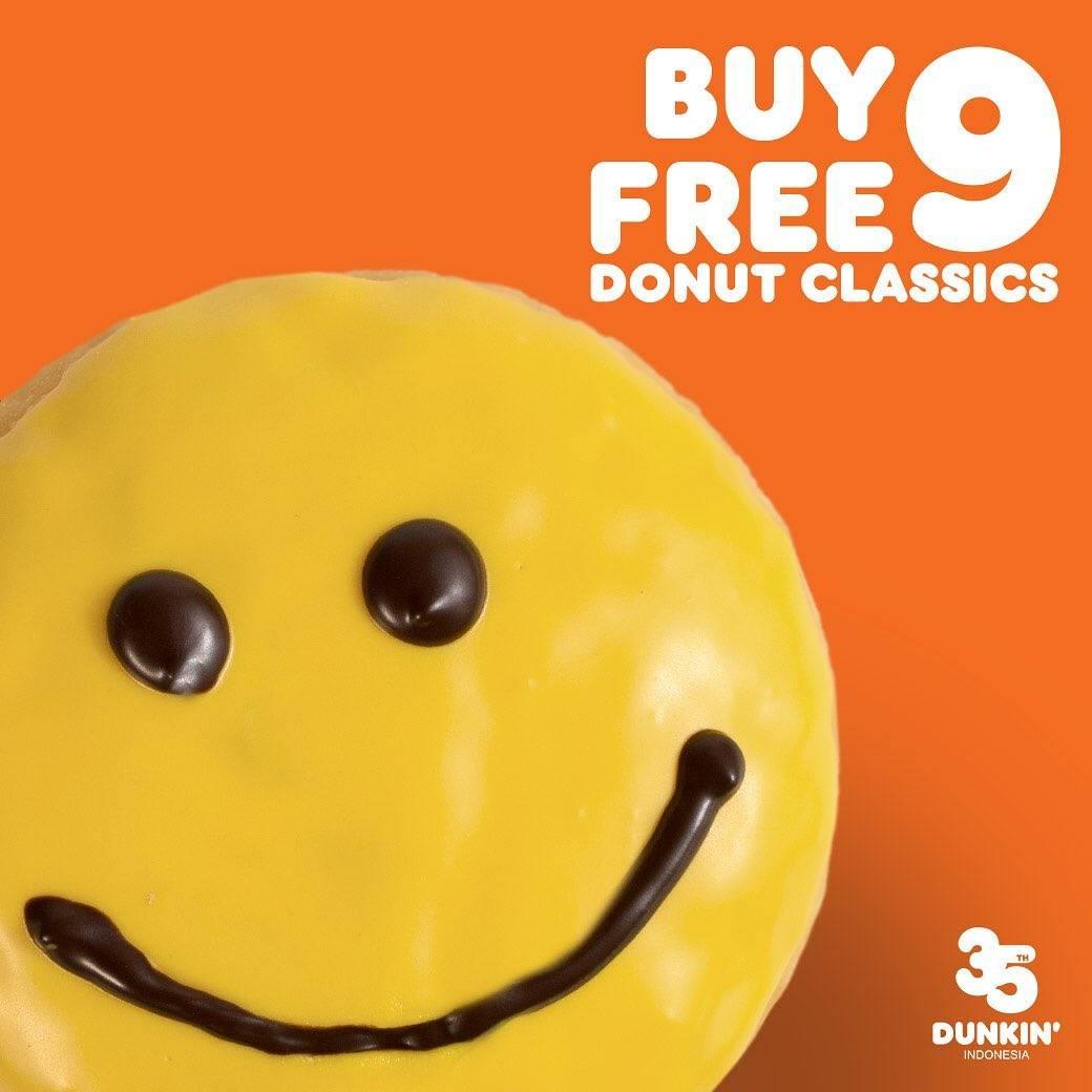 Dunkin Donuts Promo Beli 9 Gratis 9 Menggunakan Kupon Line