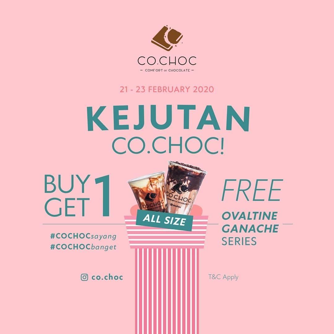Co.Choc Promo Beli 1 Gratis 1 Untuk Minuman Ovaltine Ganache Series