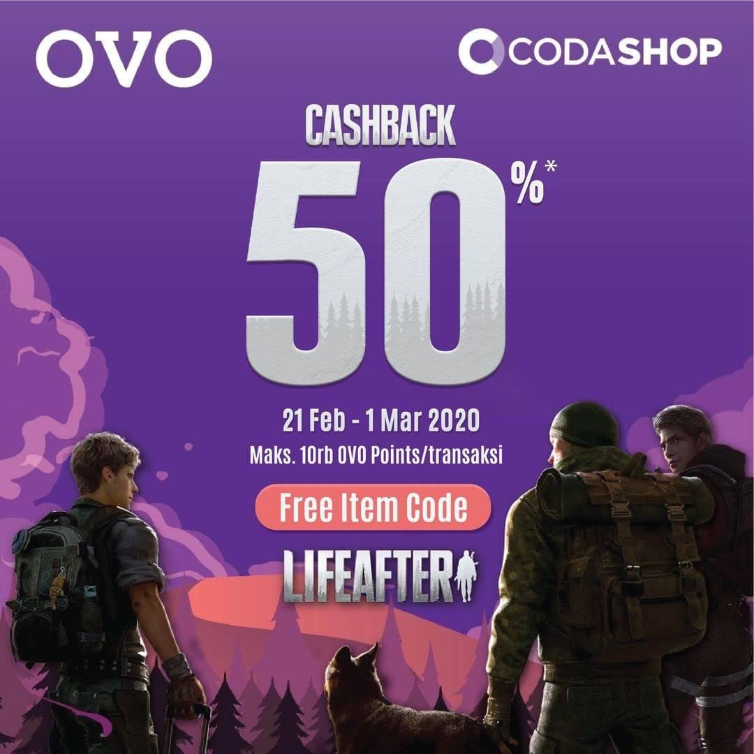 OVO Promo SOS, Cashback 50% Untuk Codashop LifeAfter Setiap Top Up Minimal 330 Credit
