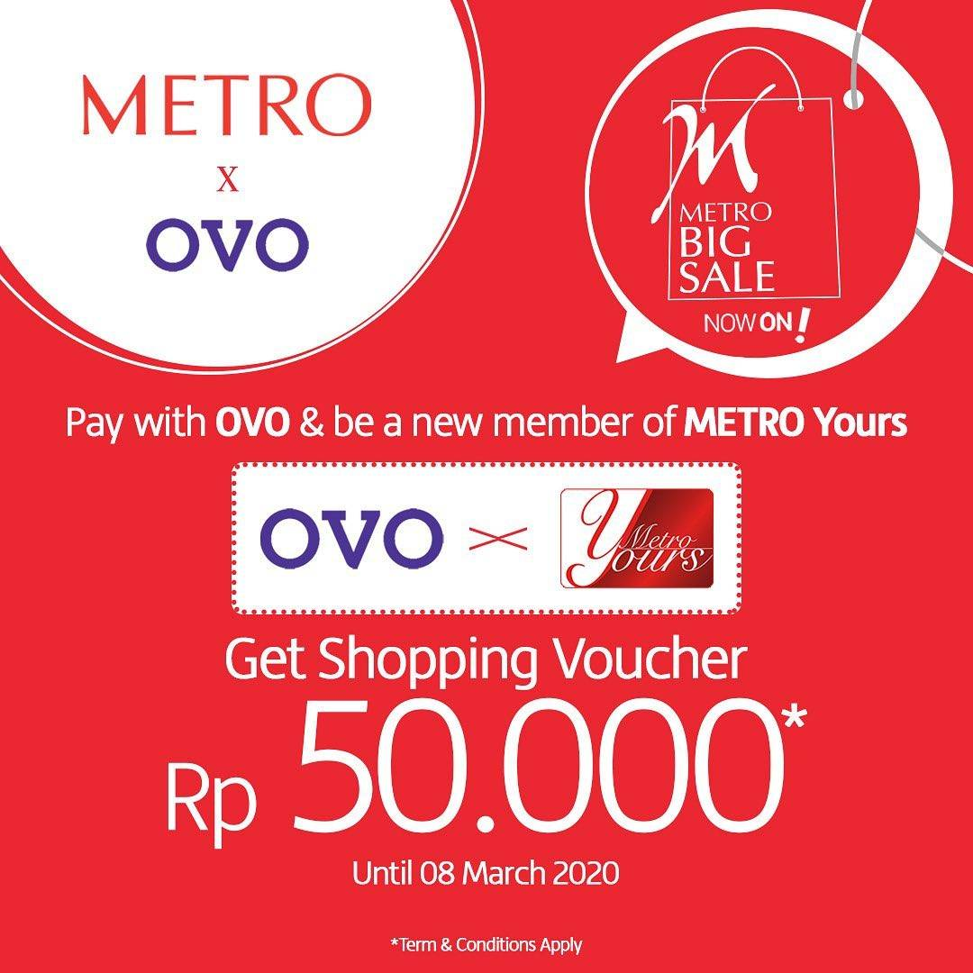 Metro Department Store Promo Free Voucher IDR 50.000 For OVO User