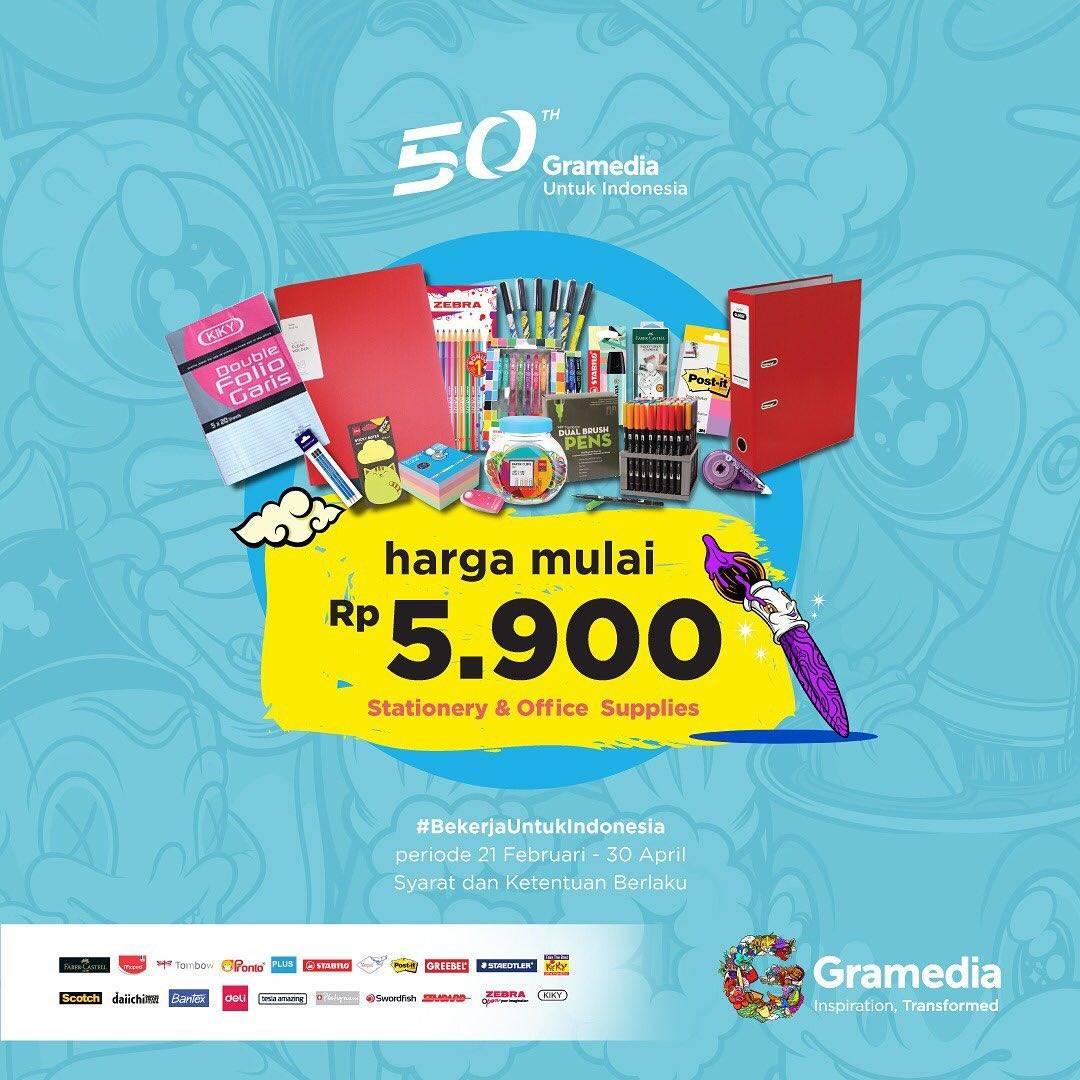 Gramedia Promo Harga Spesial Mulai Dari Rp. 5.900 Untuk Stationary & Perlengkapan Kantor