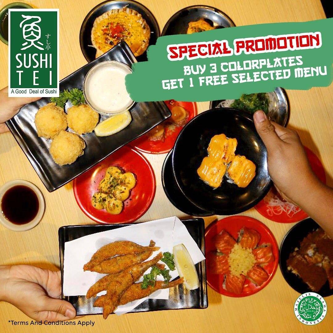 Sushi Tei Promo Buy 3 Colorplates Get 1 Selected Menu