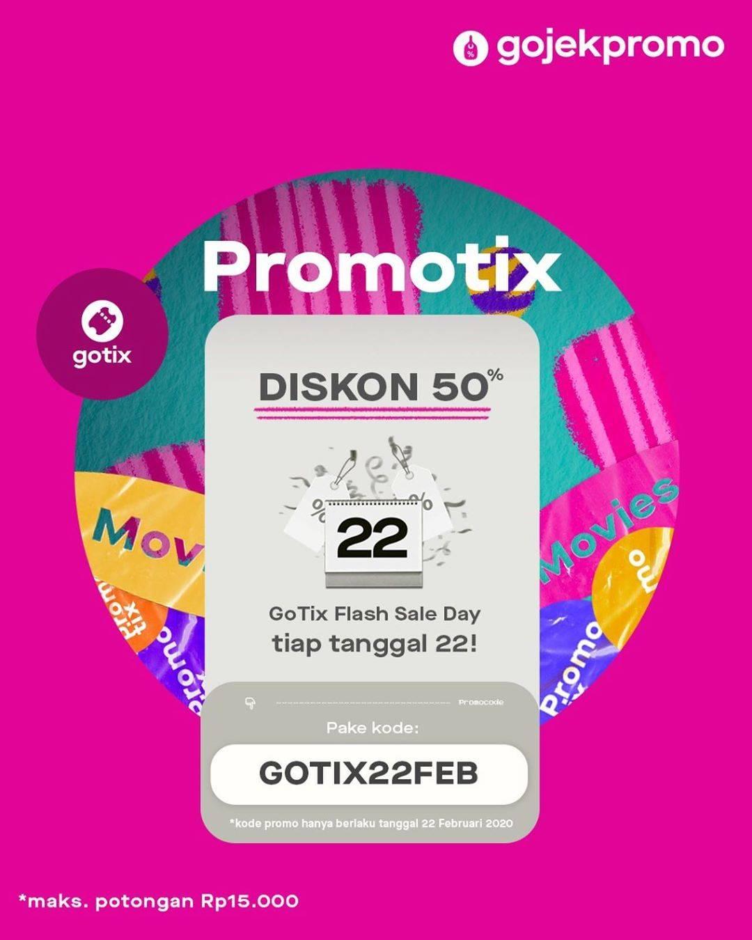 GoTix Promo GoTix Flash Sale Day, Diskon 50% Untuk Tiket Aktivitas Pilihan.