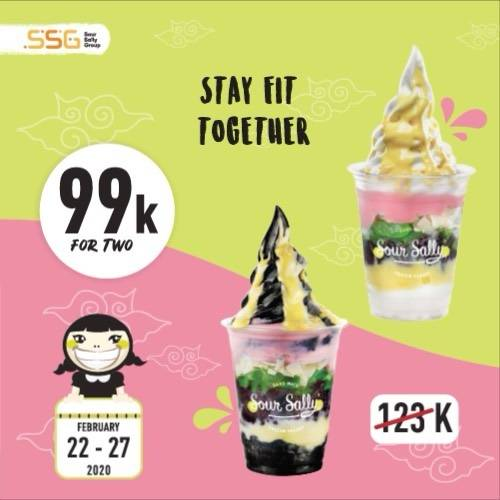 Sour Sally Promo Get 2 Doger Froyo Only IDR 99.000