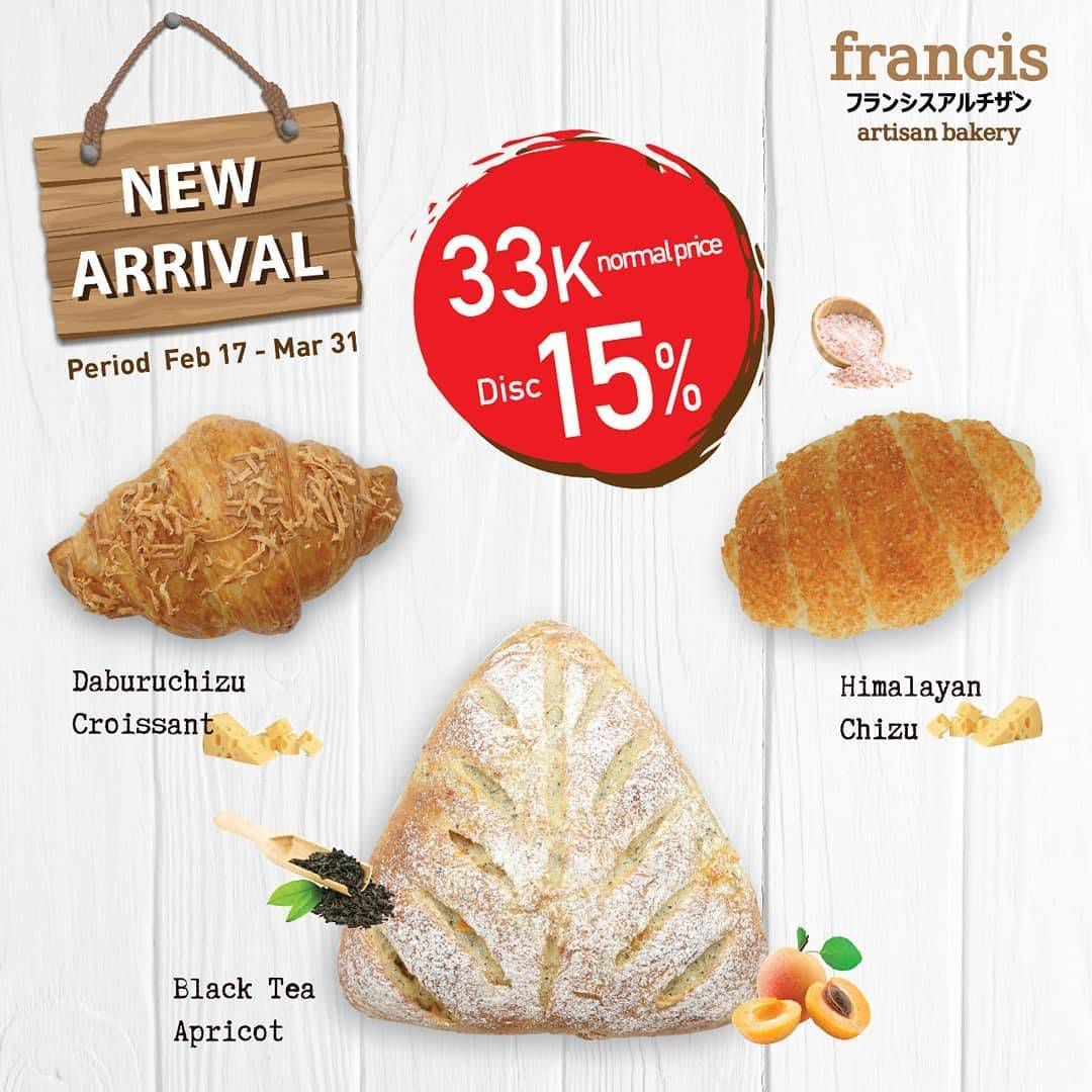 Francis Artisan Promo Discount 15% Off For New Arrival Products