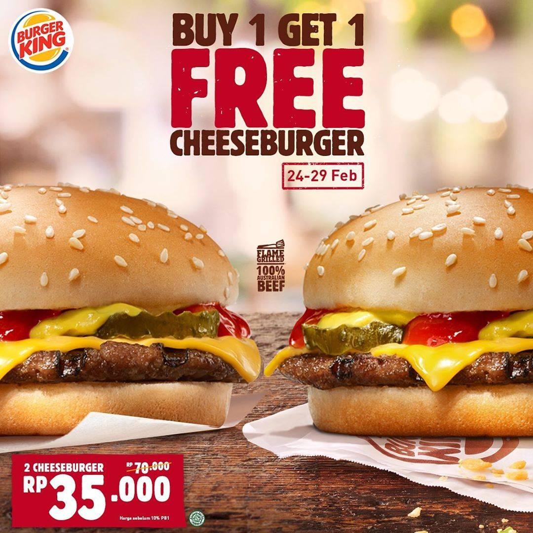 Burger King Promo Buy 1 Get 1 Free Cheeseburger