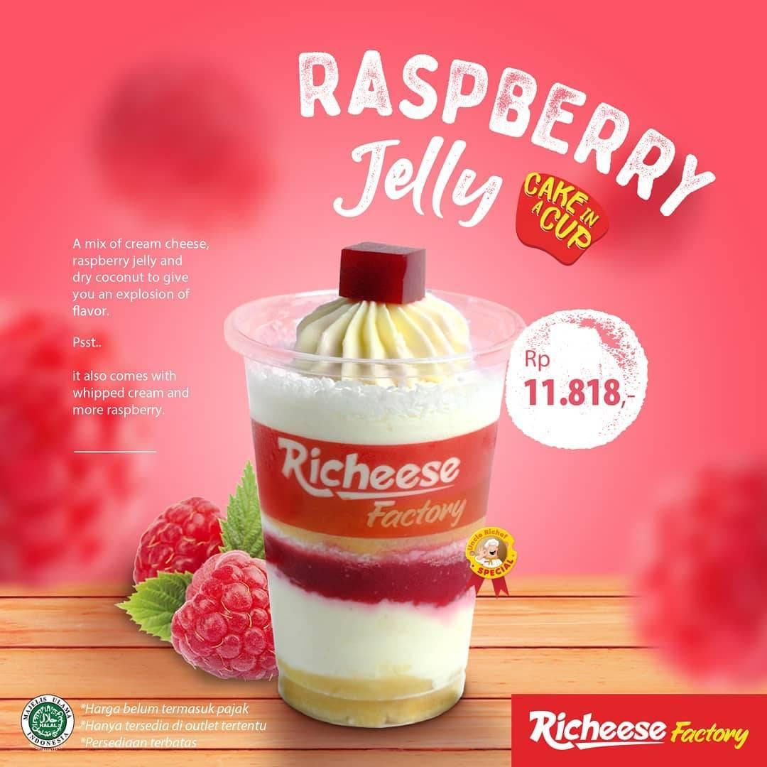 Richeese Factory Promo Harga Spesial Raspberry Jelly Cake Cuma Rp. 11.818