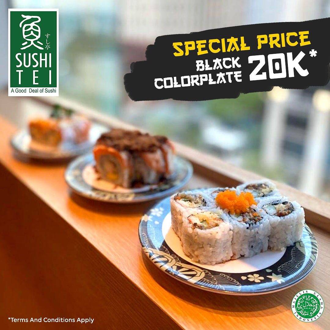 Sushi Tei Promo Specal Price Black Colorplate Only IDR 20.000
