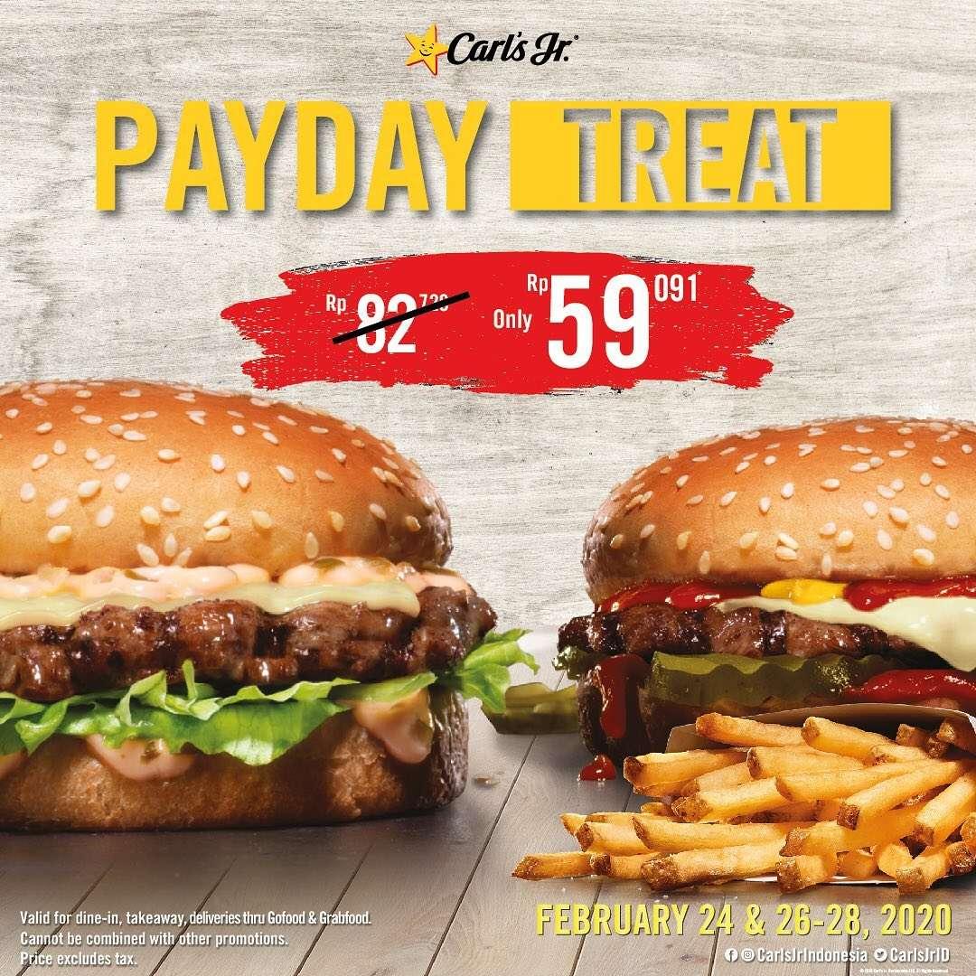 Carls Jr Promo Payday Treat Harga Spesial Menu Pilihan Hanya Rp. 59.091