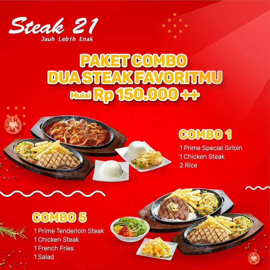 Diskon Steak 21 Promo Harga Spesial Paket Combo Mulai DP. 150.000++