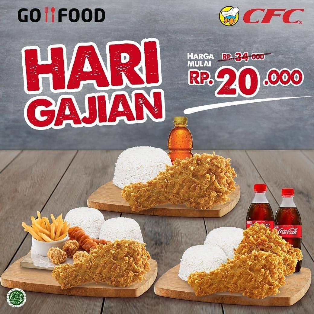 CFC Promo Hari Gajian, Paket Super Murah Cuma Rp. 20.000 Pembelian Via Gofood