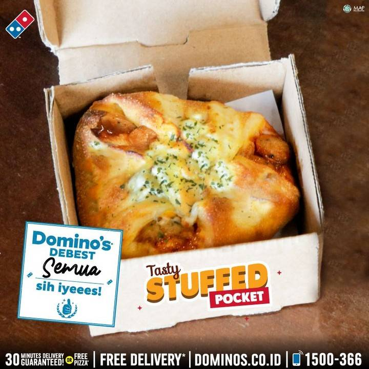 Domino's Pizza Promo Tasty Stuffed Pocket Cuma Rp. 9ribuan
