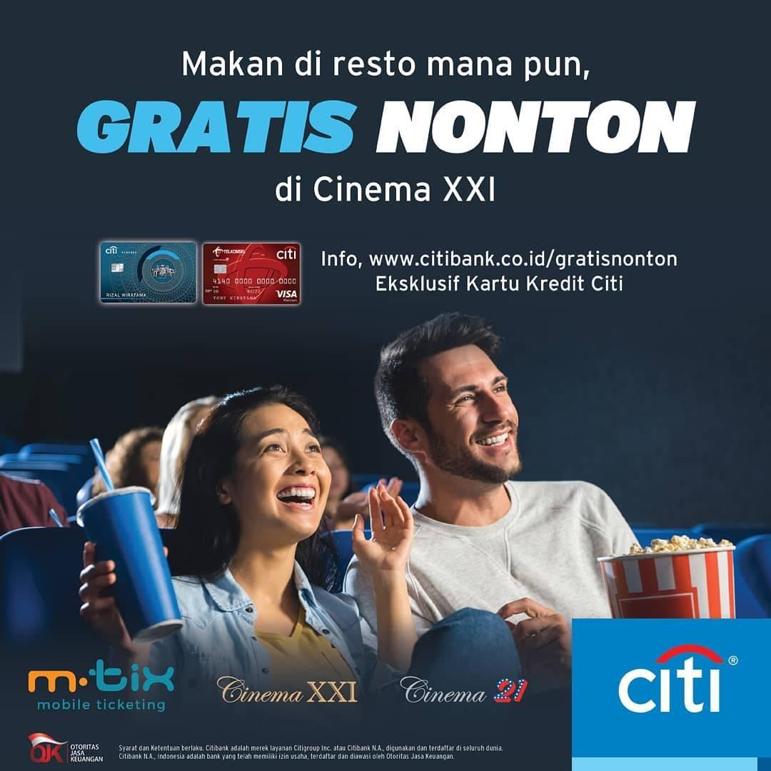 XXI Promo Gratis Tiket Nonton Pembayaran Menggunakan Kartu Kredit Utama Citibank