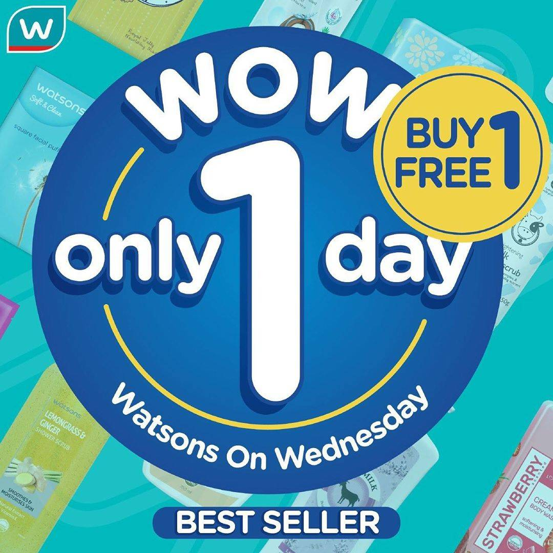 Watsons Promo Watsons On Wednesday, Buy 1 Get 1 Free Untuk Produk Brand Watsons