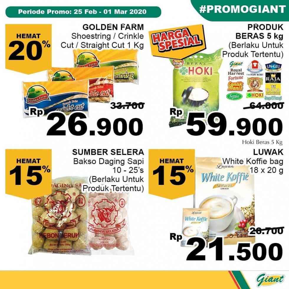 Promo diskon Katalog Promo Giant Minggu Ini Periode : 25 Feb - 01 Mar 2020