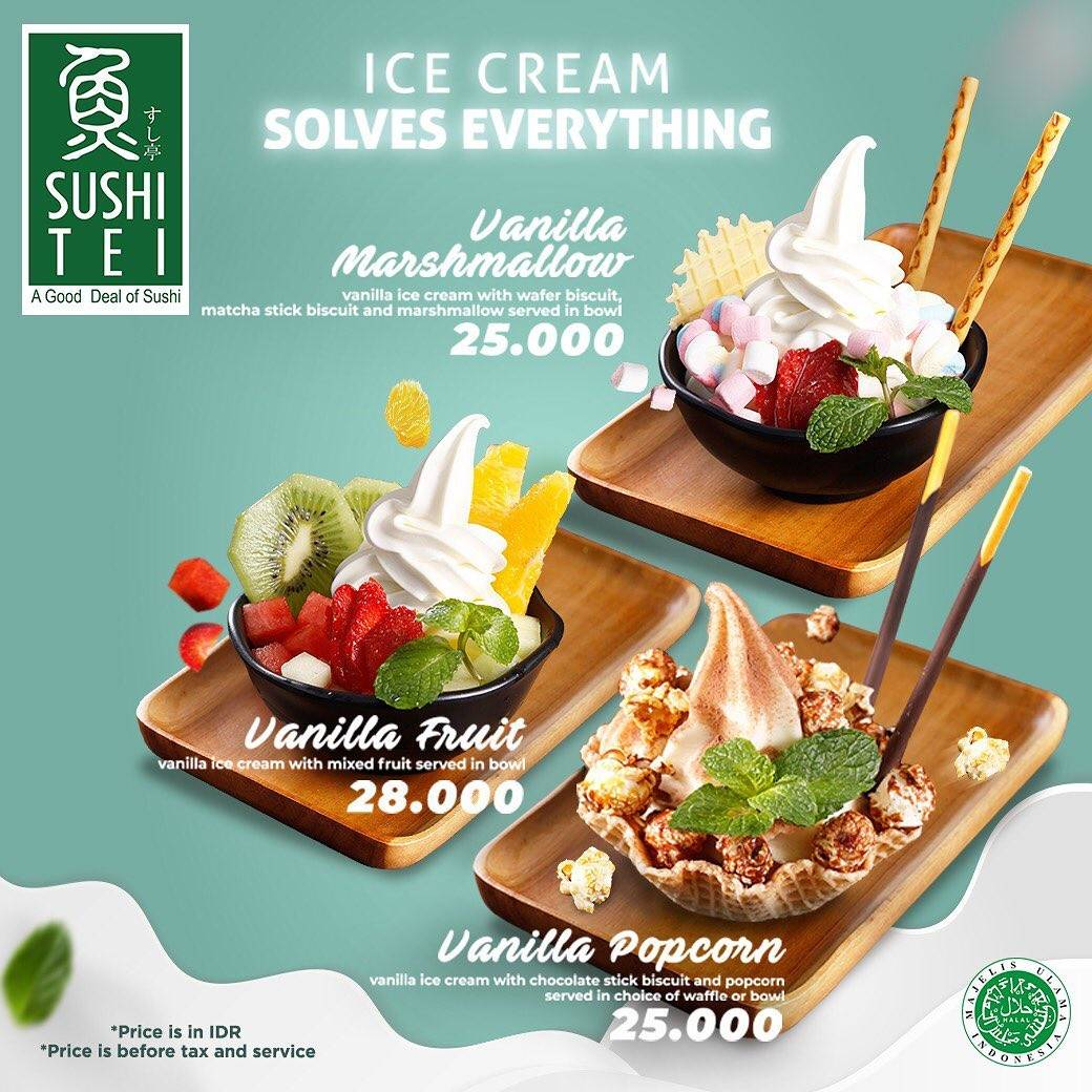 Sushi Tei Promo Harga Spesial Menu Ice Cream Mulai Dari Rp. 25.000