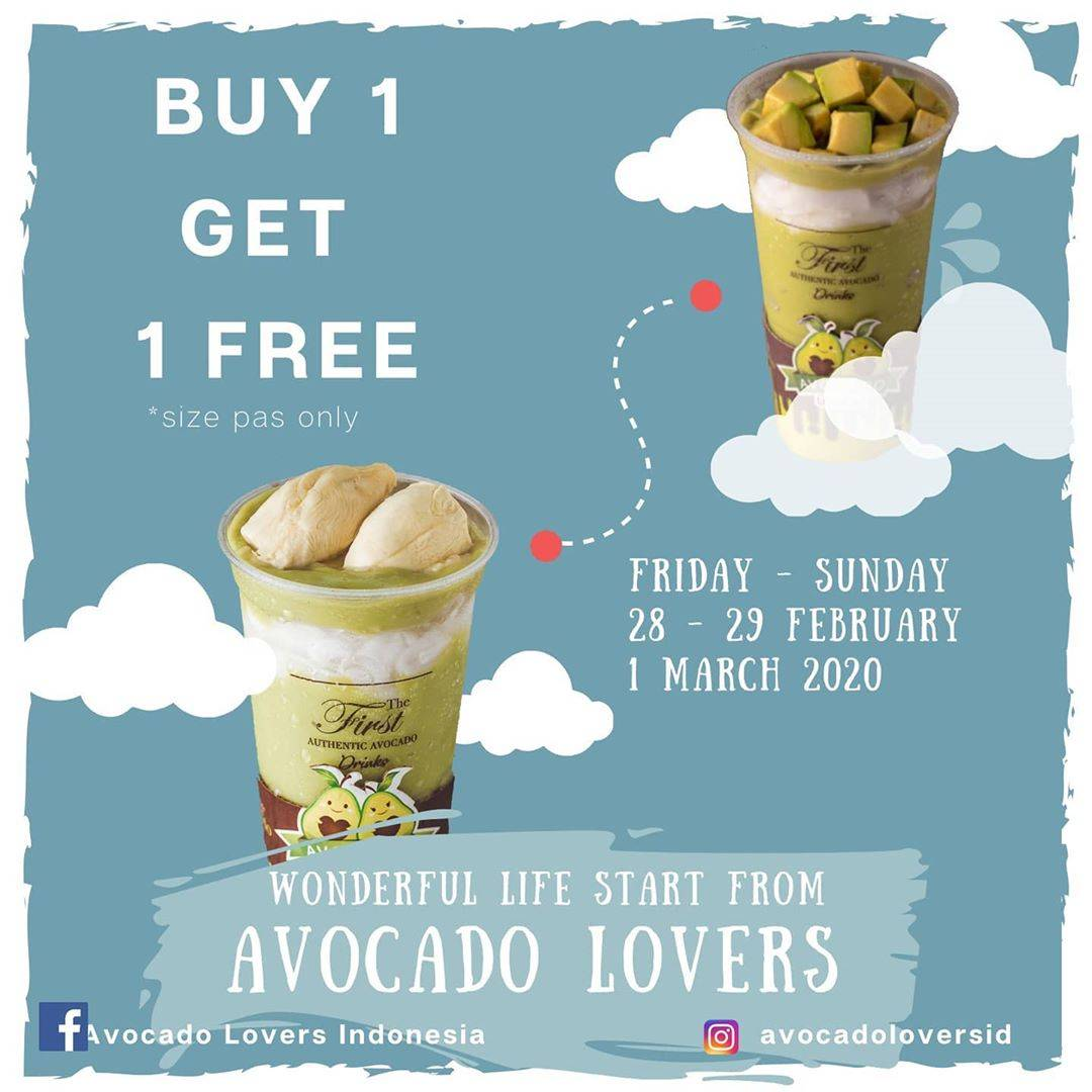 Avocado Lovers Promo Beli 1 Gratis 1