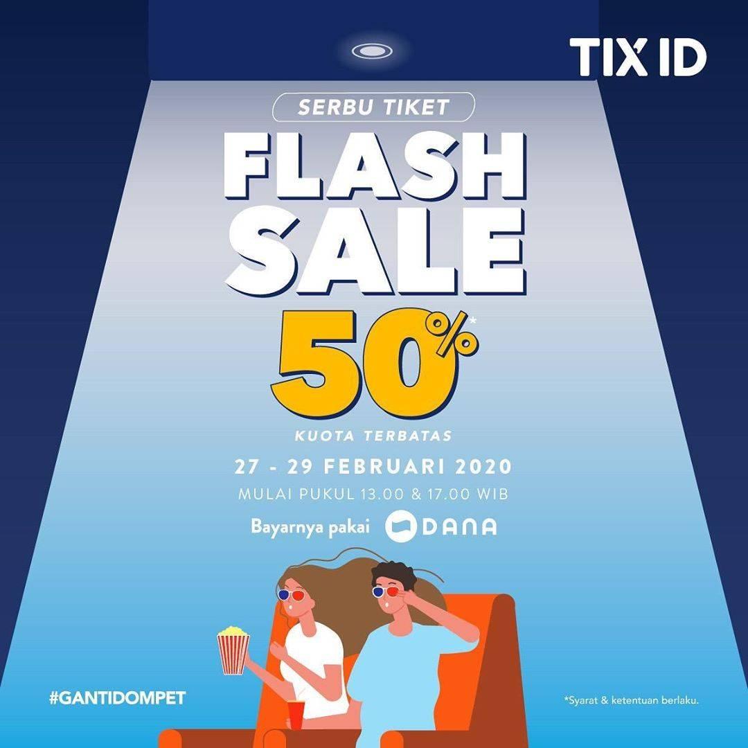 TIX ID Promo Diskon 50% Pembayaran Menggunakan DANA