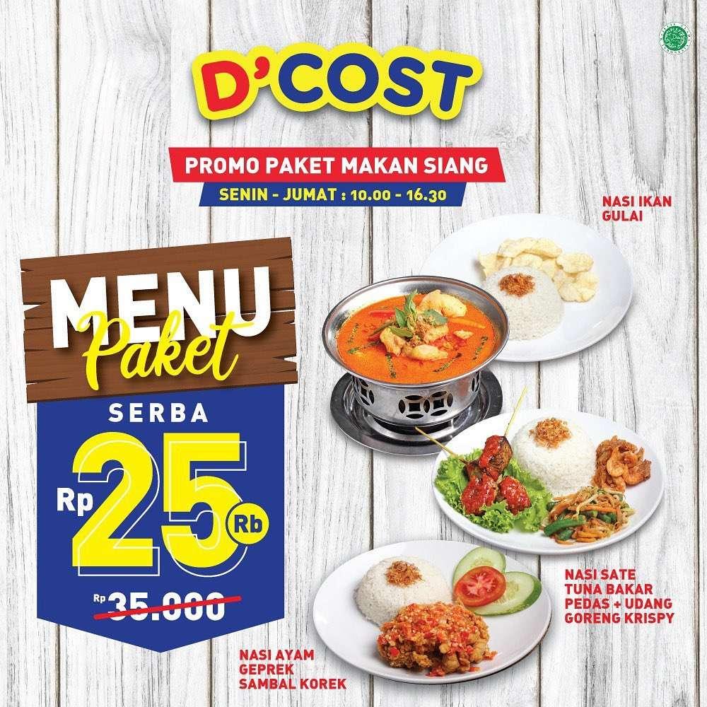 D'Cost Promo Paket Makan Siang Serba Rp. 25.000