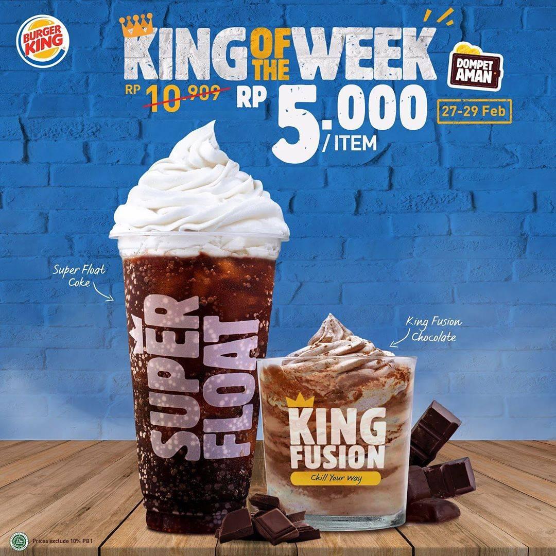 Diskon Burger King Promo King Of The Week Dengan Harga Spesial Mulai Dari Rp. 5.000