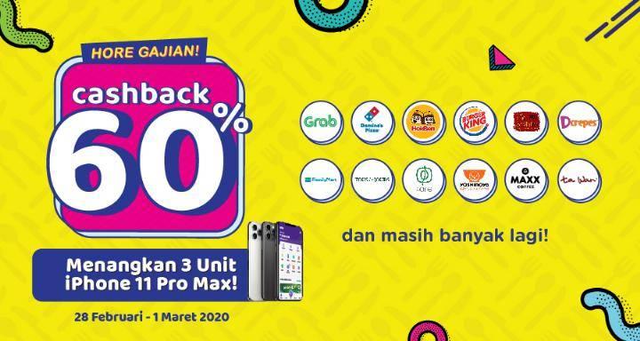 OVO Promo Hore Gajian, Jajan Hemat Dengan Cashback 60%