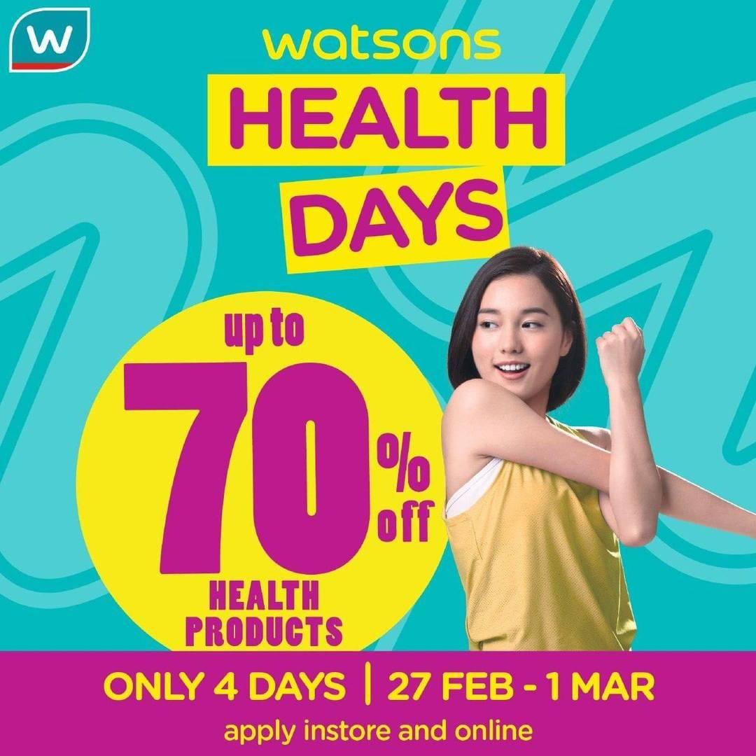 Watsons Promo Health Days, Diskon Hingga 70% Untuk Produk Kesehatan