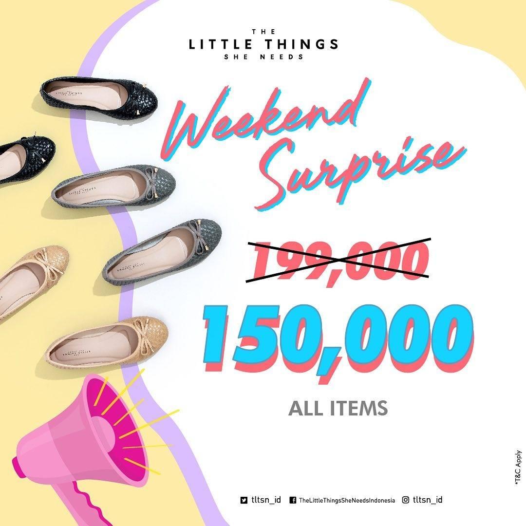 Diskon The Little Things She Needs Promo Sepatu Flat Hanya Rp. 150.000
