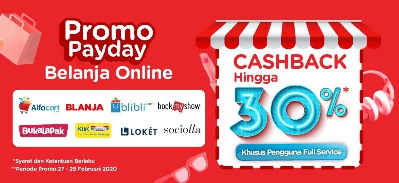 LinkAja Promo Cashback Hingga 30% Khusus Belanja Online